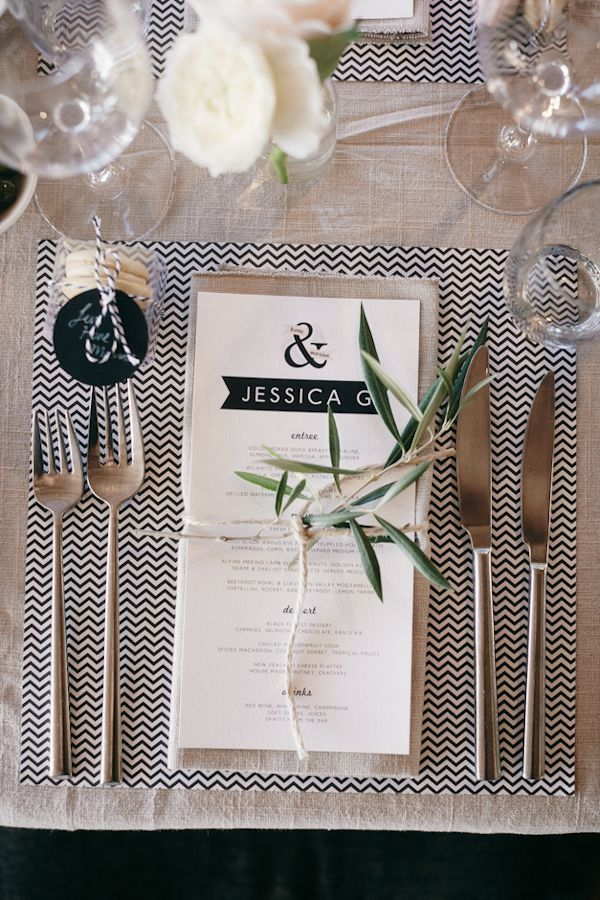 Cute! Place a scrapbook paper at each place setting for a uniform and affordable tablescape!