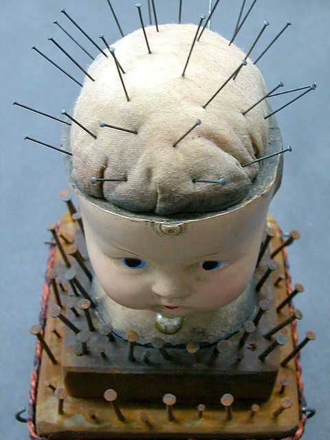 Doll head pincushion!!  @Trish Papadakos - DAiSYS & dots Louise  @Natalie Jost Jost Jost Jost Lopez