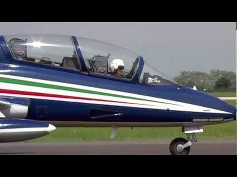 """Cpt. Pil. Fabio Capodanno is the solo of Frecce Tricolori and his callsign is """"Pony 10"""" like the number on the tail of his Aermacchi MB339A/PAN.   The solo perform the most spectacular and complex aerobatic maneuver showing the limits of his plane. He fills the time between two successive formation maneuver.   Cpt. Pil. Fabio Capodanno comes from 13th Sqn of 32nd Wing and he is qualified on SF260, AMX, MB339A and MB339CD.  Total flying hours: 2,100"""