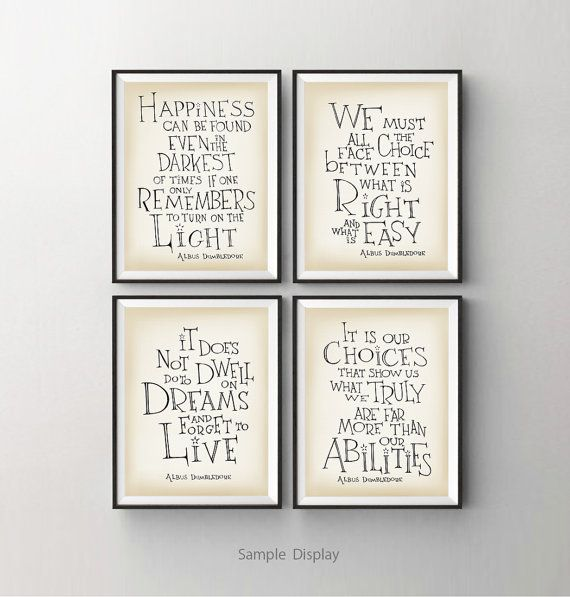 Harry Potter Dumbledore quote print Happiness can por SimpleSerene