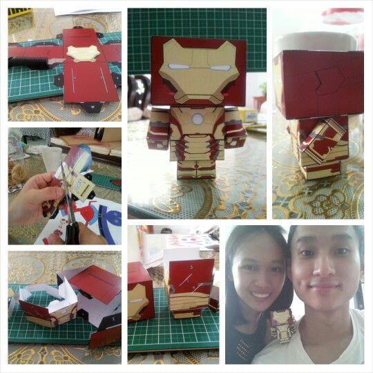 Iron man cube craft