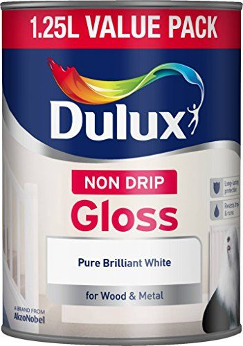 From 5.52 Dulux Non Drip Gloss Paint 1.25 L - Pure Brilliant White