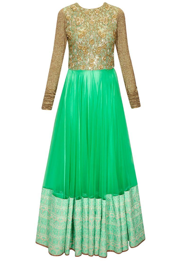 Aqua pita embroidered jalabiya dress available only at Pernia's Pop-Up Shop.