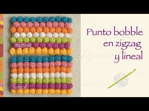 Cómo tejer el punto moss o musgo en varios colores a crochet... muy fácil! - YouTube