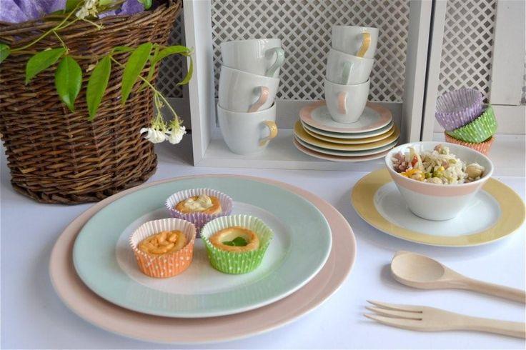 Piatti e tazze Millecolori Pastello per la tavola d'#estate  http://www.ancap.it/it/tavola/creativita-in-tavola/millecolori-pastello