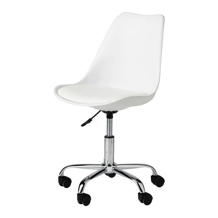 Chaise Bureau In 2020 With Images White Desk Chair White Desk