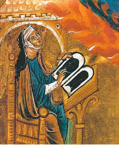 Hildegard von Bingen (1098-1179), writer, composer, philosopher, Christian mystic, Benedictine abbess, visionary, polymath, and founder of two monasteries. She had visions since early childhood and felt compelled by God to write them down. As a skilled rhetorician, she preached publicly and traveled widely during four preaching tours. Her correspondence partners included several popes, statesmen, Emperor Friedrich Barbarossa and Bernard of Clairvaux.
