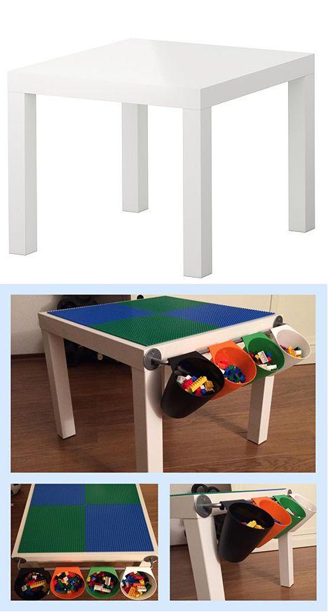IKEA-tafeltje: check - lego: check - hiermee gaan we scoren!!!