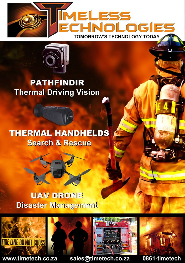 Thermal night vision cameras and UAV Drone for the Firefighting industry