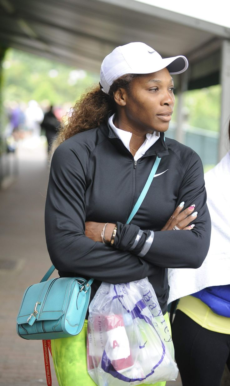 Serena Williams arriving for training at Wimbledon tennis club June 23-2013 #WTA #Williams #Wimbledon