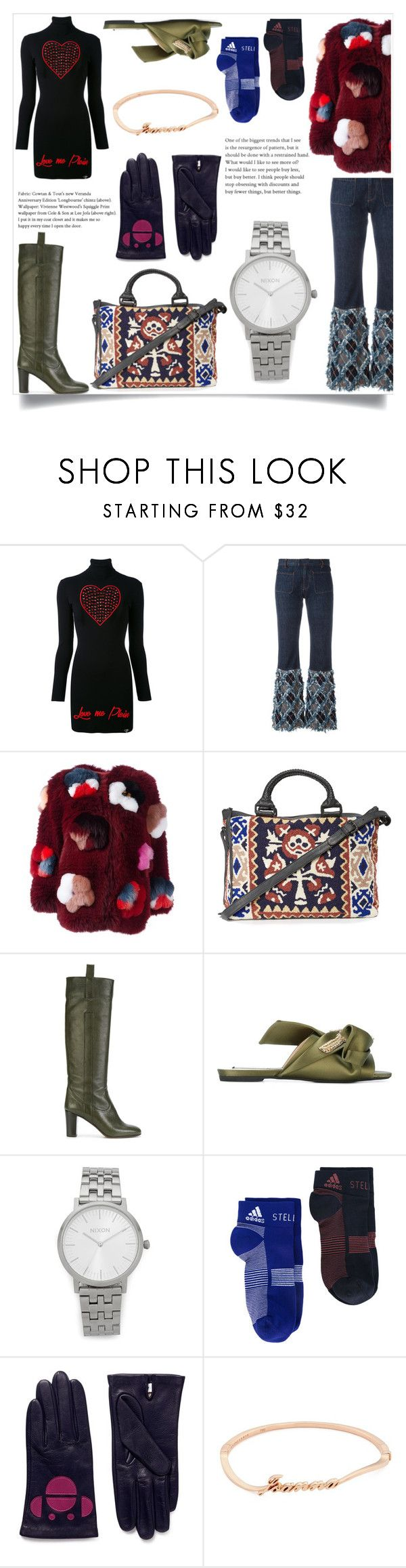 """""""Fashion :by look and feel"""" by gloriaruth-807 ❤ liked on Polyvore featuring Philipp Plein, Jean-Paul Gaultier, Fendi, Cleobella, L'Autre Chose, adidas, Aristide and Anyallerie"""