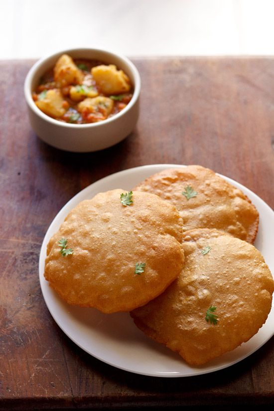rajgira ki pooris or amaranth poori, fried puffed breads made from amaranth flour and boiled mashed potatoes.