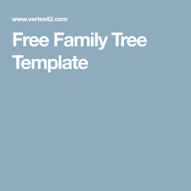 Free Family Tree Template