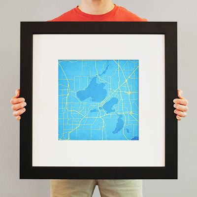 Madison, Wisconsin - City Prints Map Art