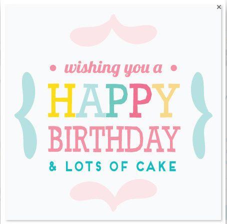 mini card - happy birthday