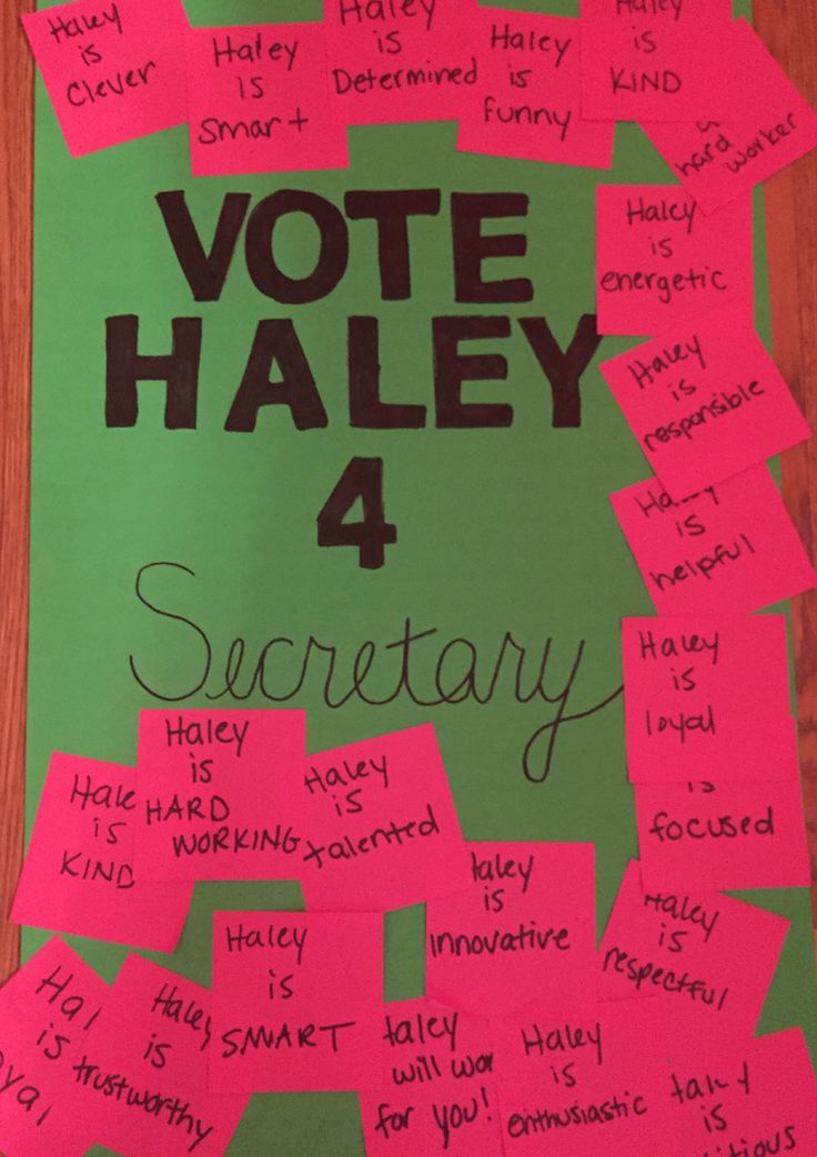 Student Council Election poster ideas My daughter made
