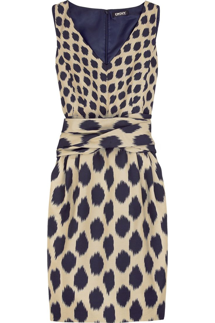 : Prints Dresses, Cocktails Dresses, Style, Business Dresses, Ikat Prints, Dkny Ikat, Circles Dresses, Prints Vneck, Polyvore