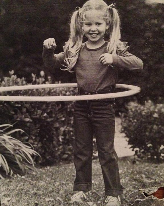 TBT to Aurora Teagarden star Candace Cameron Bure rocking hair ribbons and a hula hoop! Were you a hula whiz as a child? #movies #topmovies #gameofthrones #harrypotter #starwars #startrek #aliceinwonderland