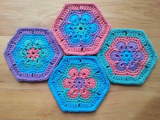 Zillie's NZ: Gallery of Items I have Made African Flower Coaster Mats