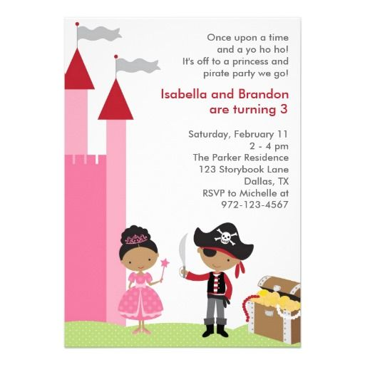 227 best twins birthday party invitations images on pinterest african american princess and pirate invitation pirate invitationsinvitations onlinebirthday party invitationsinvitation cardsprincess stopboris Gallery