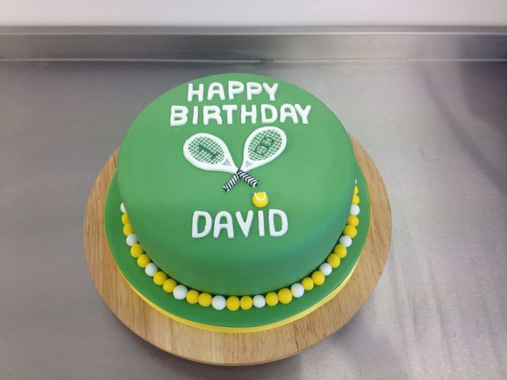 A tennis themed birthday cake