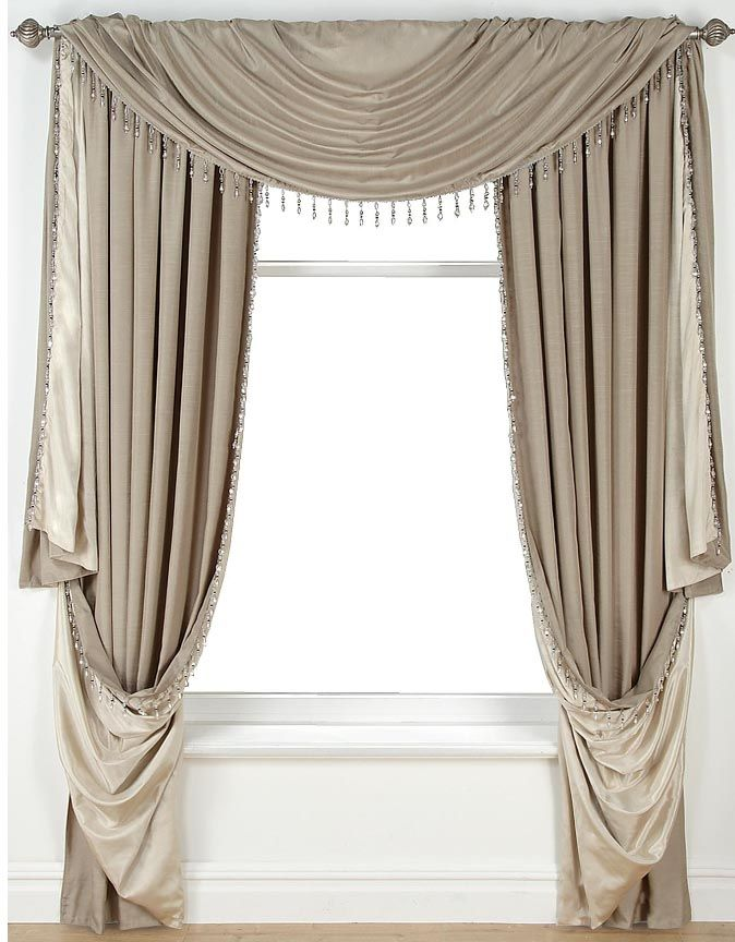 LLB Taupe, glamorous! with added beading design to the edging