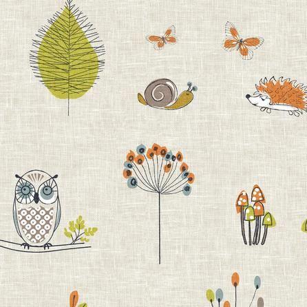 Woodland Fox Fabric Dunelm Oneday Campervans Nursery