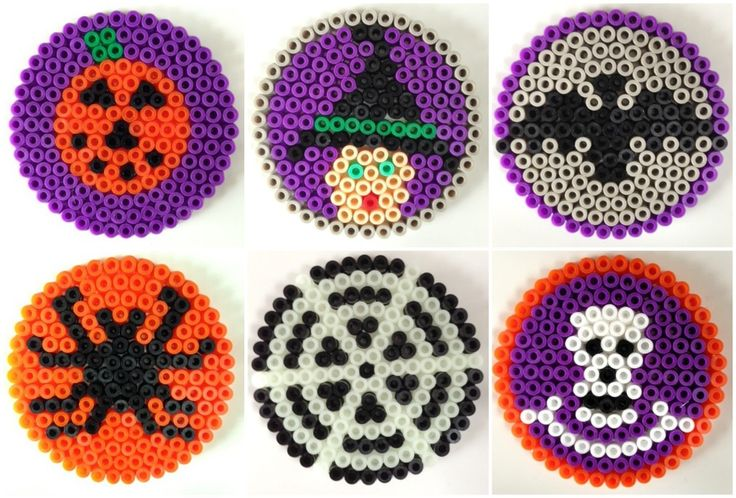 Hama bead Halloween coasters