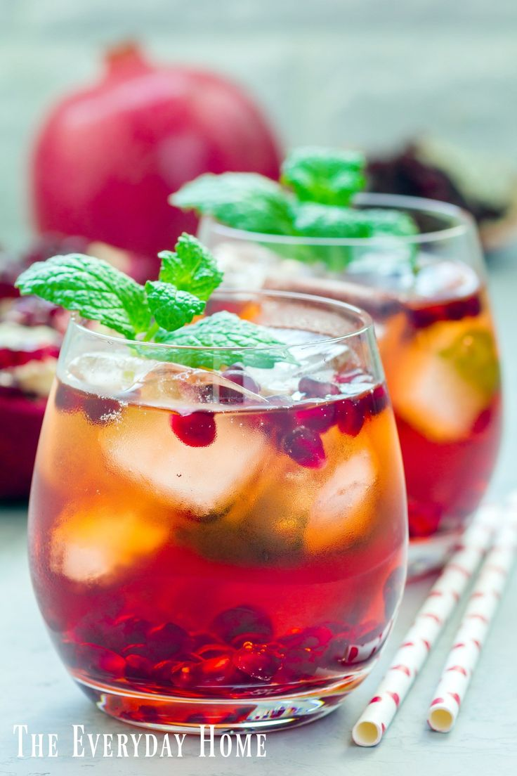 Make this yummy twist on a traditional Mojito cocktail by adding Pomegranate juice and seeds. Great for the holidays or anytime.   The Everyday Home   www.everydayhomeblog.com