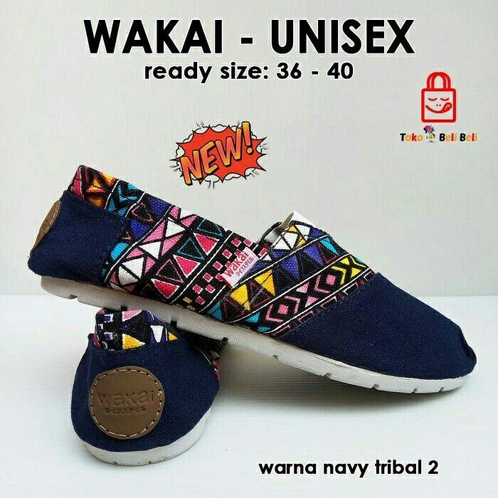 MURAHHHH BINGITTT nihhh kak... Rebutan yukkkk jangan sampe keabisan !!!! Sepatu teplek yg cucok dipake kemana aja.. diborong yuk dear... banyak motif terbaru nih yg keceeeee...   WAKAI  Harga : 110.000,- Picture yang kami upload adalah hasil real picture ***Happy Shopping***   Fast Respons : LINE@ : http://line.me/ti/p/%40tokobelibeli Instagram : @tokobelibeli  #wakai #wakaimurah #wakaiunisex #jualsepatu #bestseller #sepatulokal #readystokjakarta  #hargakhususreseller  #stokrebutan