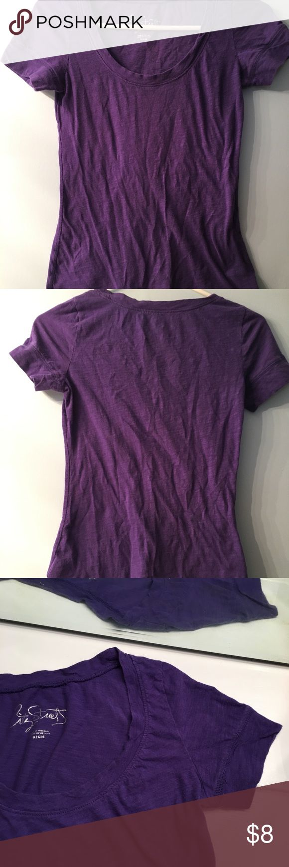City Streets tee Small, scoop neck, thin material, deep purple color. City Streets Tops Tees - Short Sleeve
