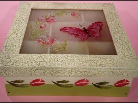 Como hacer una caja de te con dimensionales y lacas - Muebles con palets como hacer ...