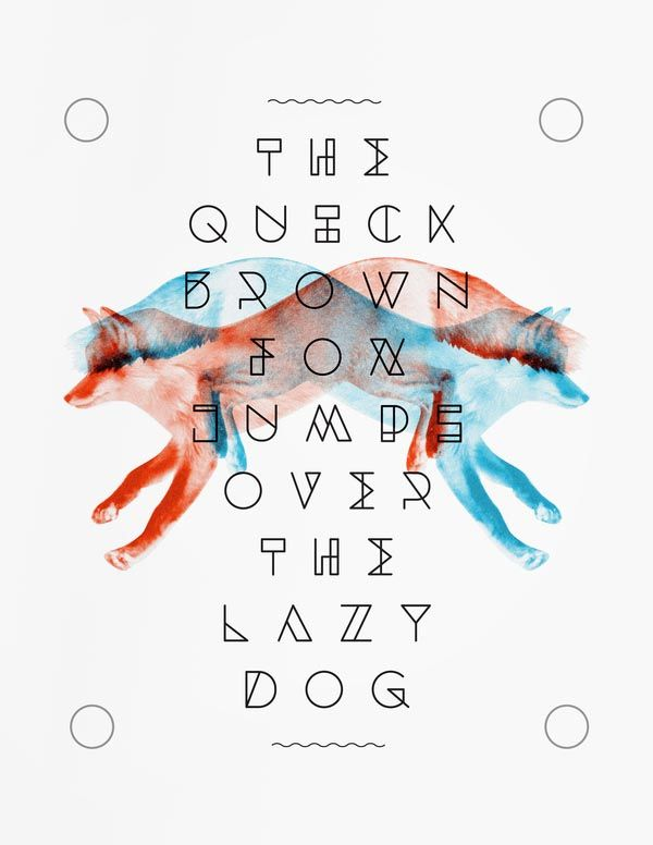 """Dessau Font – Geometric Typeface Design by Javier Fuentes; """"Taking inspiration from the Bauhaus; its name comes from one of the cities where the movement was originated. Each letter has its own characteristics, yet they all share the same elements. The result is a minimal looking font with modern qualities."""""""