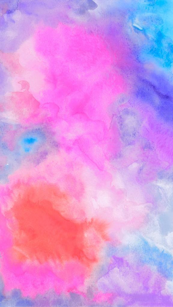 Watercolor Acuarela Art Paint Wallpaper Bright Color Diy