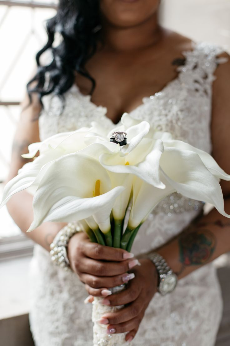 A Stunning White Bridal Bouquet Made Of Calla Lily Flowers At This
