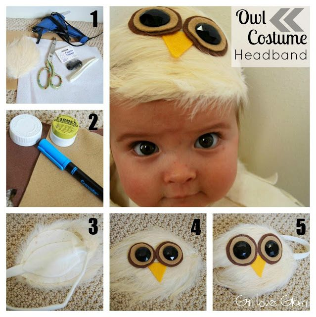 No Sew Baby Owl Costume - Girl Loves Glam