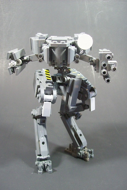 Chicken walker-style LEGO mech. I could be wrong, but it might be the Mantis from HALO, I wouldn't know, I've never played HALO.