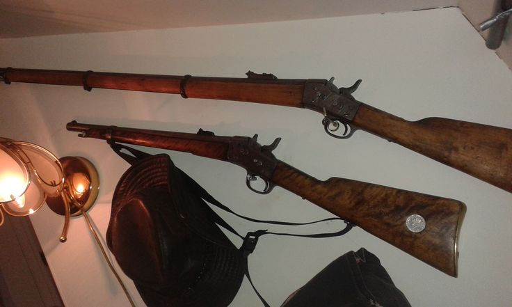 rem rb .army models,carabin for cavalery,and long rifle for infantery,both in 12,17*44/42, from 1871 and 1872