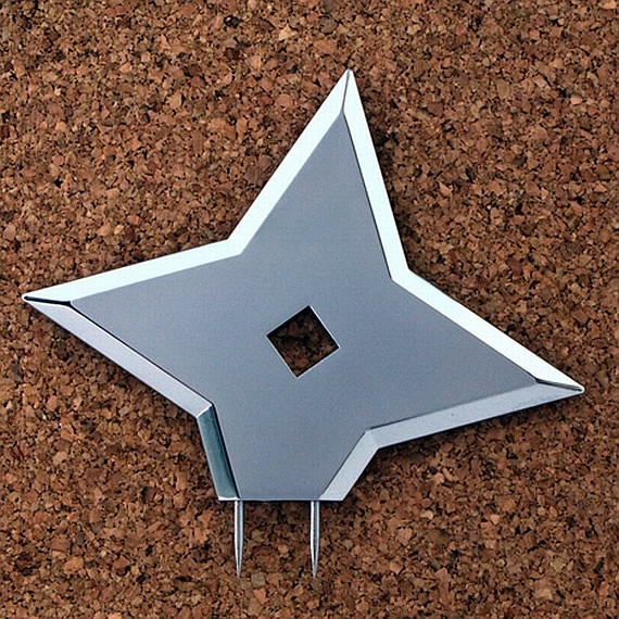 Ninja Throwing Star Tacks Pin