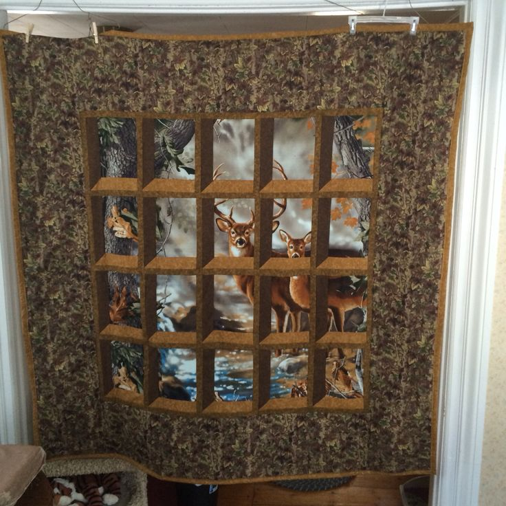 Deer Attic Window Quilt Easy To Make Crafts Pinterest