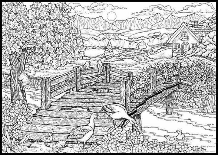 Hard Nature Coloring Pages Coloring Pages