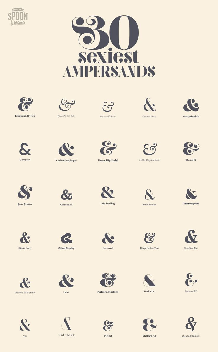 Whats your dream character? Small and curvy? Tall and strong? Whatever your type, you'll see the most attractive glyphs in this typographic beauty contest. The ampersand is every typography addict's favourite ligature, but which font has the best? I searched the world's font foundries to create a showcase of the most beautiful ampersands, find the …