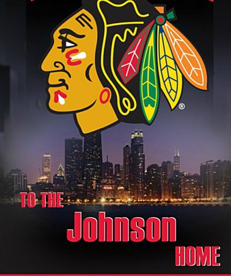 NHL Chicago Blackhawks Personalized Welcome Sign Wall Decor - detail