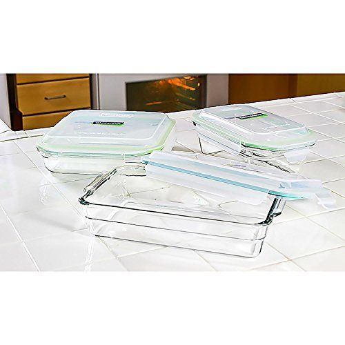 Glasslock delivers the versatility of the use of one container for the microwave, freezer, dishwasher, and oven. Odor-free, stain-proof, and airplus liquid tight, the straightforward latching lids bring more convenience in storing your food. Glasslock is product of silica, soda ash, limestone, and other natural components, making it eco-friendly and recyclable. It's BPA free and