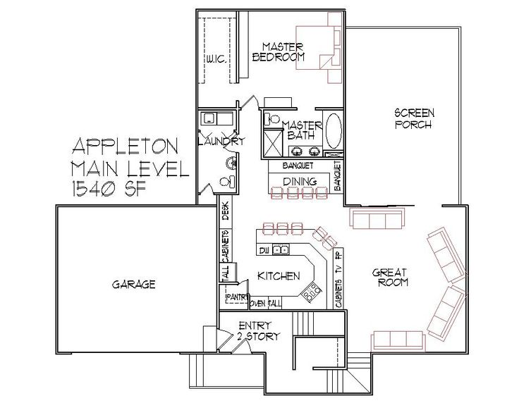 3 bedroom 3 bath split level architect designed home plans Split floor plan