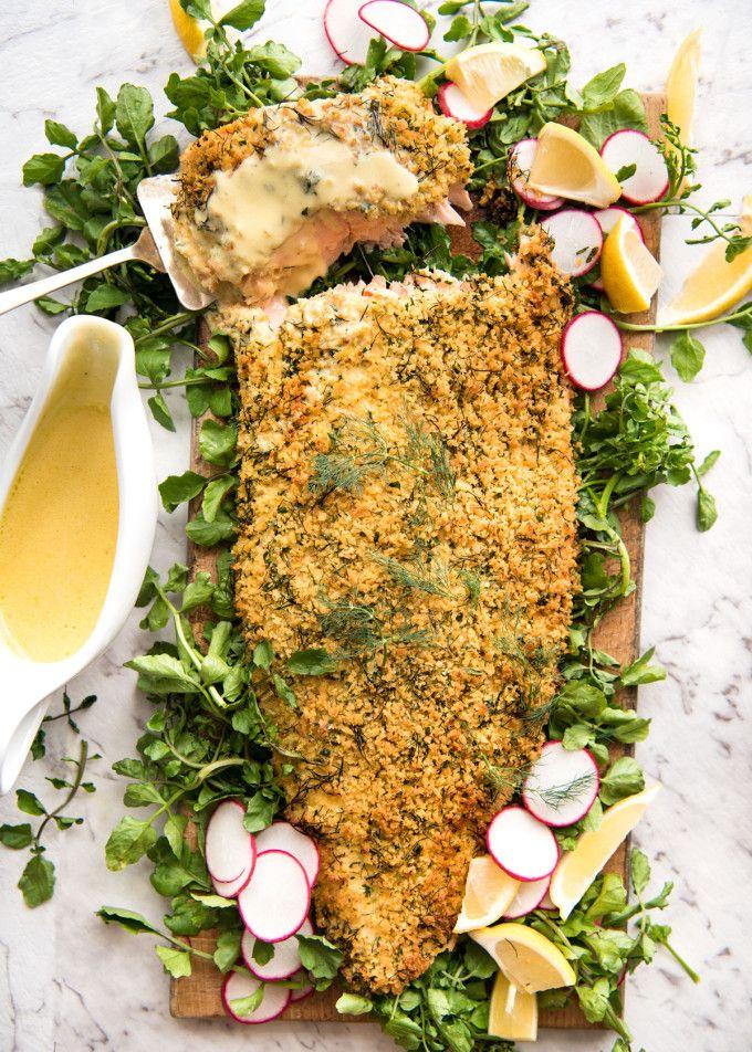 鮭 のパン粉グリルレモンクリームソース添えとベストパートナー
