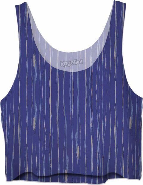 Beach Mist women's custom crop top tank. Original art you can wear.