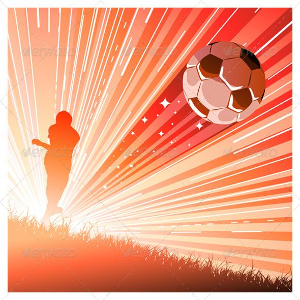 Soccer Football Player by Rocket400 Vector illustration of soccer player shooting a ball. Ai, Eps, Psd and Jpeg files. ROCKET400 / SOCCER VECTOR ILLUSTRATIONS
