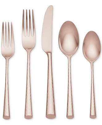 Marchesa by Lenox Imperial Caviar Rose Gold Collection - Flatware & Silverware - Dining & Entertaining - Macy's