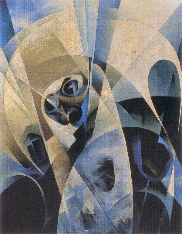 Rientro dallo spazio, Tullio Crali, 1969.